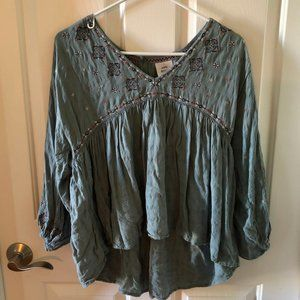 Knox Rose Embroidered Boho Top
